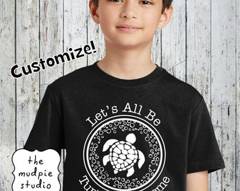 Let's Be Turtlely Awesome Customize Teacher T-Shirt Shirt - Summer Vacation