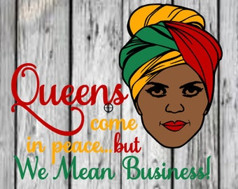 queens mean business svg african american woman