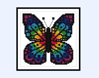 Cross Stitch Pattern Chakras Butterfly Rainbow Original Cross Stitch PDF Pattern Instant Download