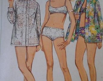 1960s Simplicity 7645 Misses Bathing Suit Robe Vintage Pattern, size 10