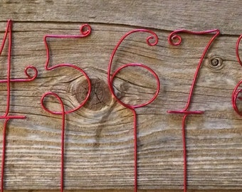 Table numbers wire table numbers table number set gold set of 10 red wire table numbers greentooth Gallery
