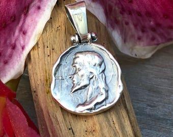 Jesus Christ medal. Silver 900