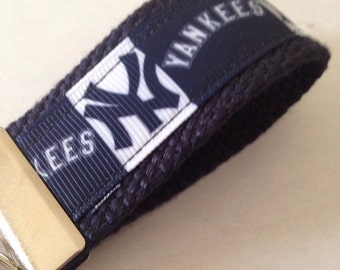 New york yankees/ mini key fob/ blue and white/ Key Chain
