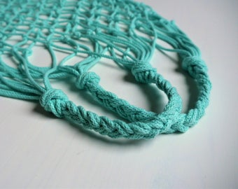 Handmade Netbag/Filet cord Mint