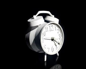Analog Paper Clock - Paper Art; Paper Sculpture
