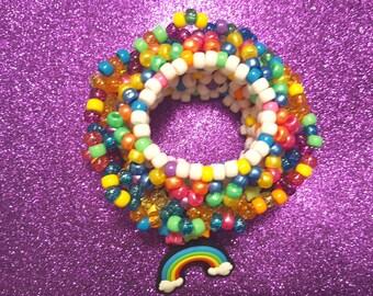 Chassant les arcs en ciel - poignets 3D - UFO - manchette épique - Bright / Neon /Rainbow