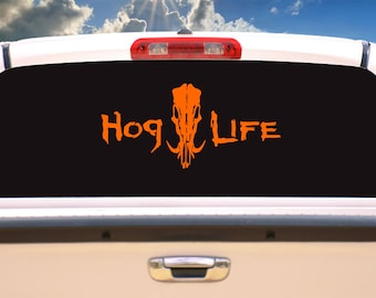 Hog life decal, sticker,decals,car decals,hunting decals,car stickers,car decals for men,vinyl decals,vinyl stickers,custom window decals