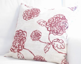 floral throw pillows, red floral pillows, floral couch pillows covers, floral accent pillow cover, decor, red decorative pillows, 16x16