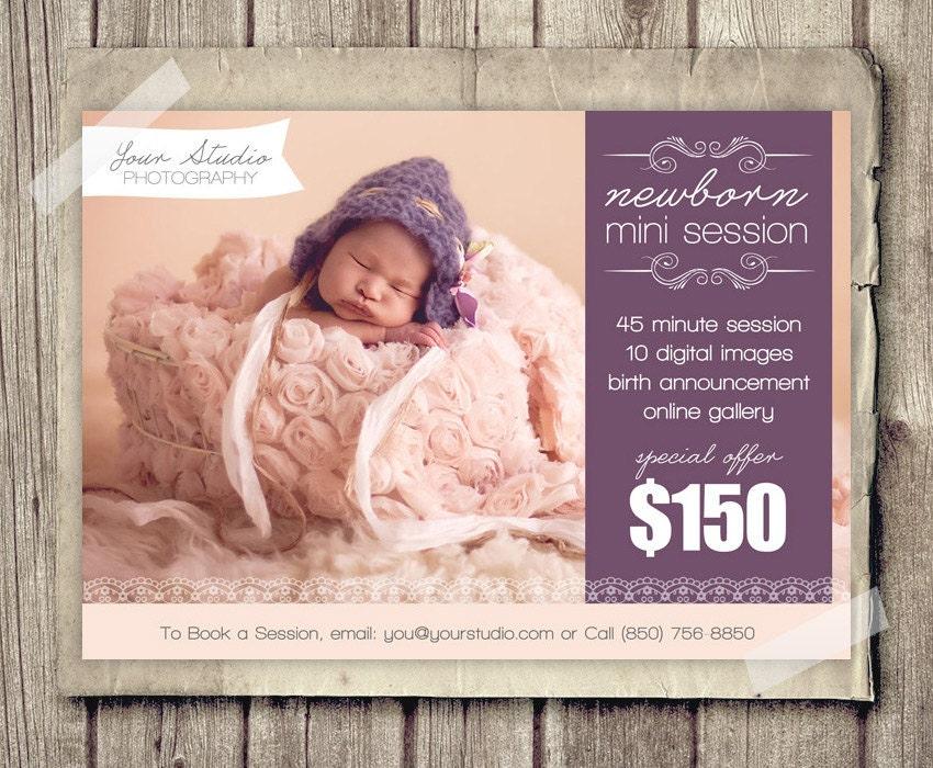 Newborn Photography Template Marketing Baby Newborn Mini Session - Mini session templates