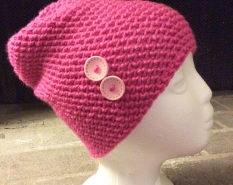 Crochet Slouchy Hat, Crochet Slouch Beanie, Crochet Beanie, Chemo Hat, Fall Winter Hat, Warm Stitching,
