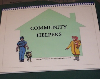 Community Helpers File Folder Autism PECS Game