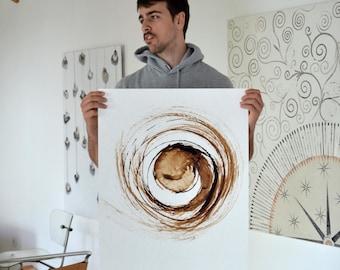 Original Large Abstract Drawing, movement, art, storm, wind, abstract art, original abstract art, planet,atom, astromony, universe art,