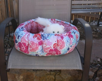Cat Bed, Round Pet Bed, Indoor Cat Bed, Pet Supplies, Pet Bedding, Handmade Pet Bed, Luxury Pet Bed, Small Dog Bed, Beds For Cats Pet Bed