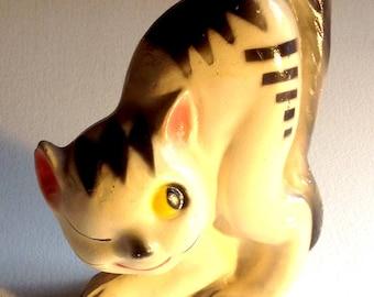Vintage chalkware cat plaster carnival prize Halloween decoration