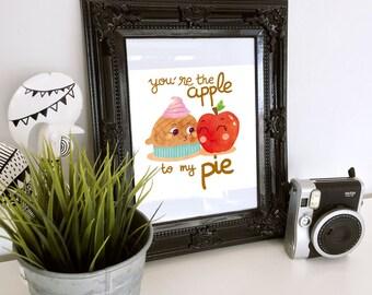 Affiche - Apple pie - pun - print - children print