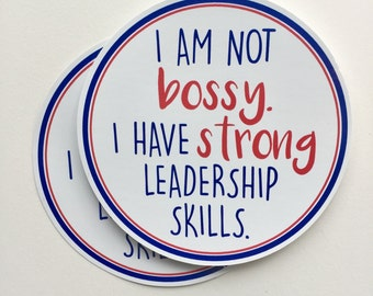 I am not bossy bumper sticker, laptop decal