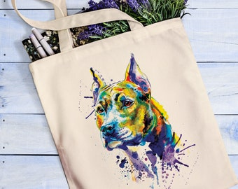 Staffordshire bull terrier tote bag