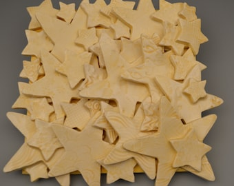 Textured Star Tile Collage Yellow - Ceramic / Pottery
