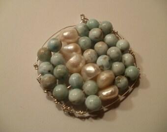 sea and sky pendant