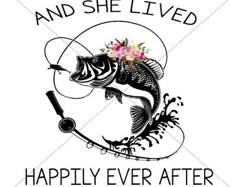 And She Lived Happily Ever After Sublimation Transfer