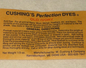 Sale! OLD IVORY Cushing's Perfection Acid Dye...2.00/each