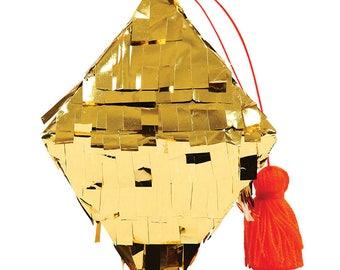 Tiny Piñata, Gold Diamond Piñata,Party Decor, Petite Piñata, Small Piñata Favors, Gold Foil Piñata, Party Favors, Decor, Place Setting Decor