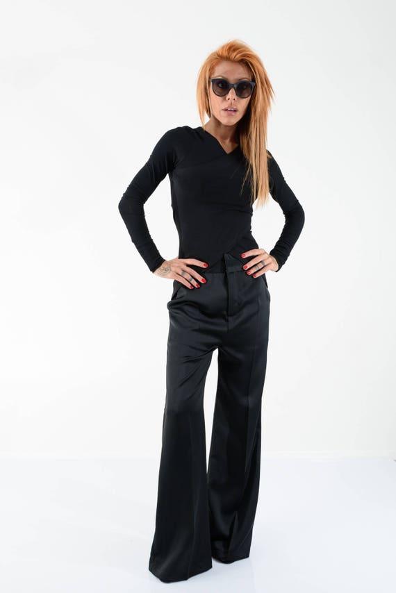 Straight Trousers Pants Pants Black Leg Pants Womens Waist High Pants Pants Straight Women Palazzo pants RpPqxgv1n