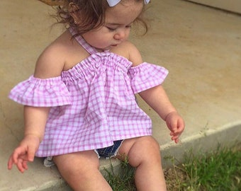 Baby Crop Top - Toddler Crop Top - Toddler Off the Shoulder Top - Girls Crop Top - Kids Crop Top - Girls Top - Baby Off the Shoulder Top