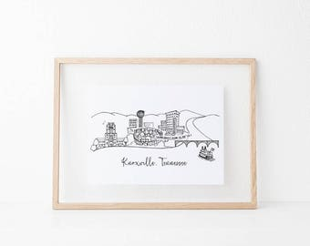Knoxville, Tennessee Art Print