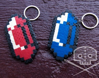 Legend of Zelda-inspired Rupee Keychain- Fusible Beads- Multiple Colors