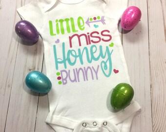 Baby Girl Easter Onesie- Little Miss Honey Bunny