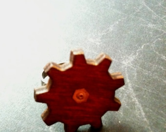 Large Wood Gear Steampunk Adjustable Ring