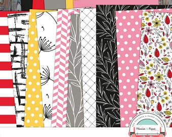 March Pattern Papers Printable