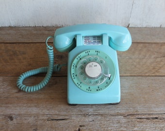 Vintage BLUE Western Electric Rotary Telephone Mint Condition