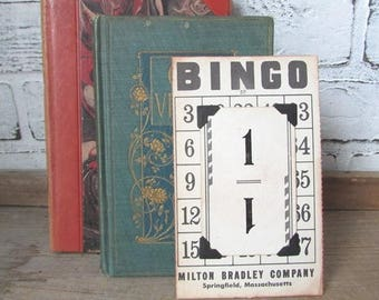 Bingo Table Number Vintage Wedding Table Decor Sold Individually Flinch Card Table Number