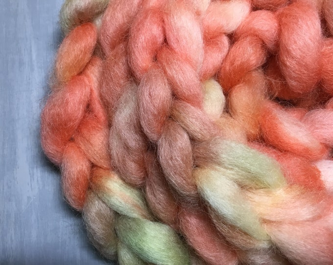 Luau - Hand Dyed Mohair/Local Cross Spinning Fiber