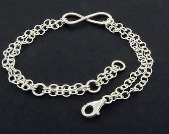 Sterling Silver Figure 8 Bracelet Gift for Mom - Infinity Bracelet Gift for Her - Minimalist Bracelet - Best Friend Bracelet