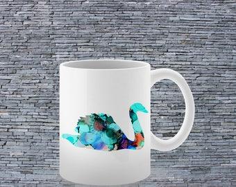 Swan Mug- Printed Mug - Ceramic Mug - Art Mug - Tea Mug