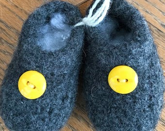Felted Baby Bootie
