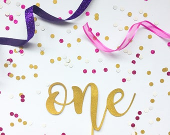First Birthday Cake Topper, Cake Topper, One