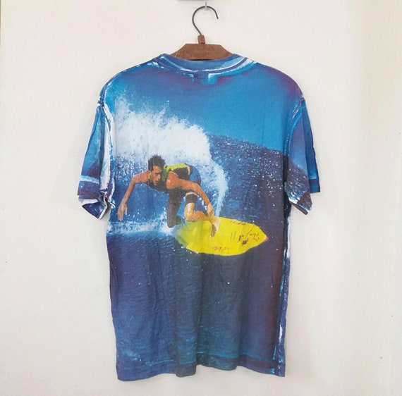 UCOB Overprint Surfing Colors fits Art Large Benetton Of Beach United Rare Overprint Vintage Wave wXq8xPfx4