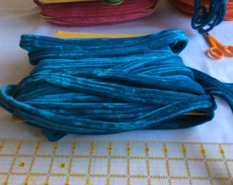Vintage velvet turquoise cord trim sewing millinery Three versions to choose from