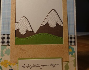 Mountain scenery card