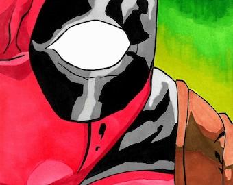 Deadpool Head Print