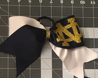 Notre Dame fighting Irish cheer bow