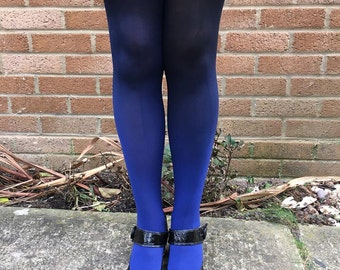 Kendall Sapphire Springs Ombre Tights - More Colours - Dip Dye - Black - Lingerie - Gradient - Hosiery - Costume Women - Gift for Her