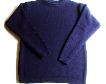 Women's knitted Virgin wool roll-neck sweater/jumper/pullover/thick/chunky sweater