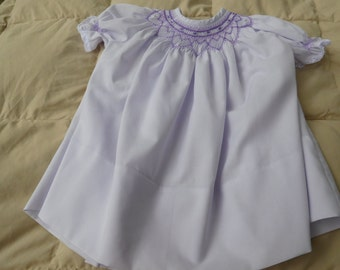 Hand Smocked Baby Dress Size 12 months