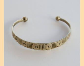 TUAREG MOON BRACELET -  Old Original Tuareg Tribal Silver Bracelet. Cross. Sahara, Africa