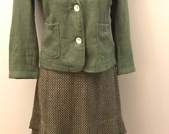 Neesh By D.A.R. Skirt - Green Brown - Size Small